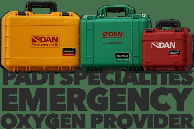 padi dan emergency oxygen O2 provider specialty course
